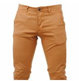 Paname Brothers heren chino slim fit stretch john lengte 34 - bruin