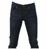 Hakkers Paris heren jeans brown wash slim fit stretch lengte 34 donker