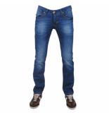 Montazinni exclusive designer jeans regular fit stretch model 7 blauw