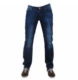Montazinni exclusive designer jeans regular fit model 4 blauw