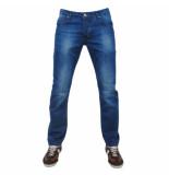Montazinni exclusive designer jeans regular fit model 1 blauw