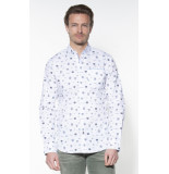 PME Legend Casual overhemd met lange mouwen wit