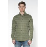 Cast Iron Casual overhemd met lange mouwen groen