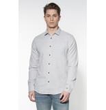 Cast Iron Casual overhemd met lange mouwen grijs