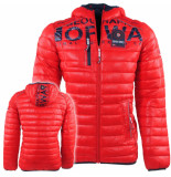Geographical Norway heren winterjas budapest - rood