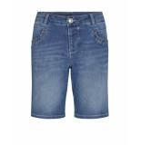Mos Mosh 133720 401 naomi novel shorts blue blauw