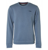 No Excess 95100110 123 crew neck sweater steel blue -
