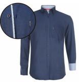 Donadoni heren overhemd regular fit navy