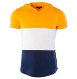 Carisma heren t-shirt capuchon - wit navy
