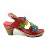 Laura Vita Beclforto. sandaal rood