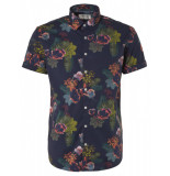 No Excess 95460306 all over printed short sleeve stretch shirt 078 night no-excess