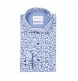 Michaelis Overhemd wit met blauw dessin