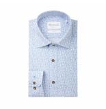 Michaelis Overhemd lichtblauw met dessin