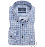Ledûb Heren overhemd tekst print button down poplin modern fit