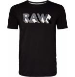 G-Star Raw. text slim r t s\s zwart