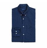Gant Overhemd mini print blauw