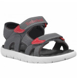 Timberland Youth perkins row 2 strap forged iron grijs