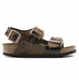 Birkenstock Sandaal kids milano colour sprays brown narrow