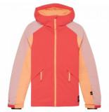 O'Neill Ski jas o'neill girls dazzle jacket neon flame rood