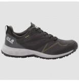 Jack Wolfskin Wandelschoen men woodland texapore low dark grey lime grijs