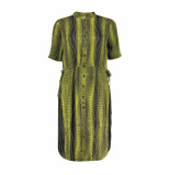 Geisha 07070-20 999 dress aop dots with straps s/s black/yellow