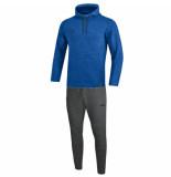 Jako Joggingpak met sweaterkap premium basics m9629-04 blauw
