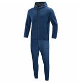 Jako Joggingpak met kap premium basics m9729-49 blauw