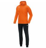 Jako Polyesterpak met kap classico m9450-19 oranje