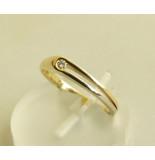 Atelier Christian 14 karaat bicolor ring met briljant