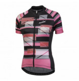 Nalini Fietsshirt women trendy /roze zwart