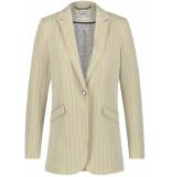 Aaiko Adeline stripe blazer cream beige