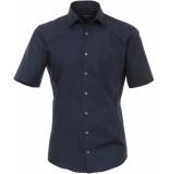 Casamoda Heren overhemd non iron korte mouw modern fit blauw