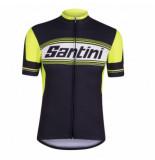 Santini Fietsshirt tau short sleeve printed jersey black