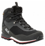 Jack Wolfskin Wandelschoen men wilderness lite texapore mid black red zwart