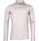 Thomas Maine Heren poloshirt zand pique tailored fit