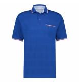Marco Manzini Polo km rolf blauw