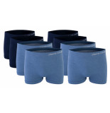 Pierre Cardin 8-pack seamless boxers blauw