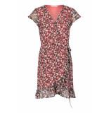 Freebird Multi-flower-pes-01 rosy mini dress short sleeve