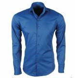 Ferlucci heren overhemd napoli slimfit stretch azurro blauw