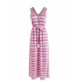 K-Design Jurk maxi sleeveless v-neck roze
