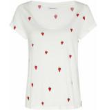 Fabienne Chapot Kris t-shirt cream white parrot purple