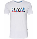 G-Star Raw. text slim r t s\s white wit