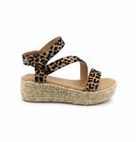 BLOWFISH Malibu Blowfish lover rope dames sandaal sahara leopard grasslands cognac