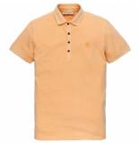 Cast Iron Cpss203858 7138 short sleeve polo light pique stretch buff orange