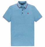 Vanguard Vpss203880 5176 short sleeve polo pique stretch melange swedish blue