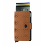 SECRID Miniwallet perforated bruin