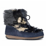 Moon Boot Women low fur camu blue blauw