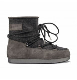 Moon Boot Women far side low suede black zwart