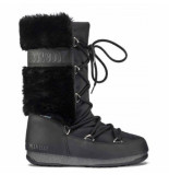 Moon Boot Women monaco hi fur wp black zwart