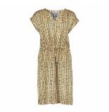 Geisha 07424-20 720 dress satin/lace elastic waist/belt sand/black combi